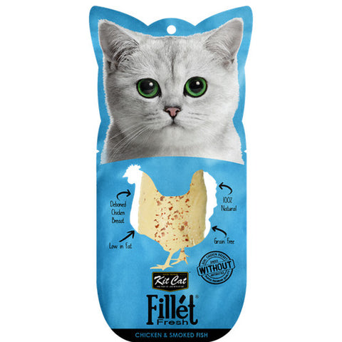 Kit Cat Fillet Fresh Grilled Chicken & Smoked Fish Treats - Push Pets Singapore