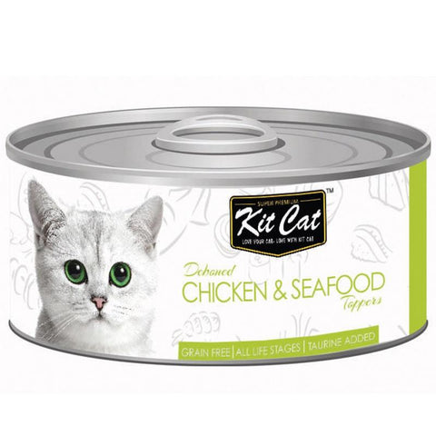 Kit Cat Deboned Chicken & Seafood Aspic Toppers 80g