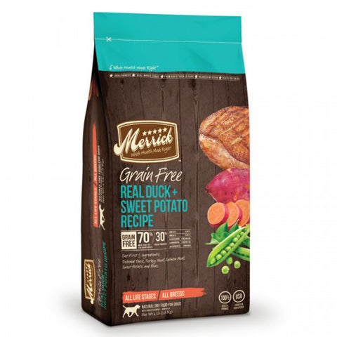 Merrick Grain Free Real Duck & Sweet Potato Dry Dog Food - Push Pets Singapore