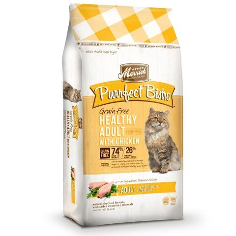 Merrick Purrfect Bistro Grain Free Adult Chicken Formula - Push Pets Singapore