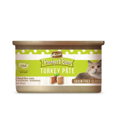 Merrick Purrfect Bistro Grain Free Turkey Pate Canned Cat Food - Push Pets Singapore