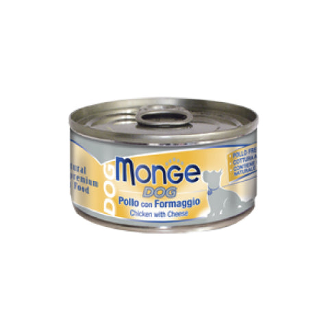 Monge Dog Chicken with Cheese 95g