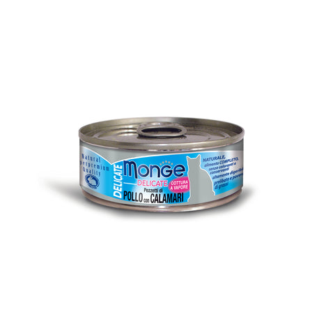 Monge Delicate Chicken With Squid Cat Food, 80g