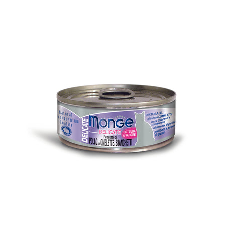 Monge Delicate Chicken With Omelette & Whitebait Cat Food, 80g