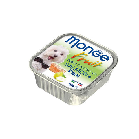 Monge Fruits Pate & Chunkies With Salmon & Pear 100g