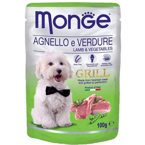 Monge Grill Pouches Lamb & Vegetables 100g