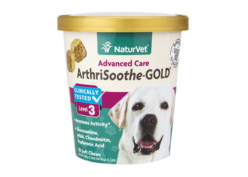 NaturVet Arthrisooth Gold Level 3 Soft Chew Cup