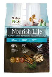 Nuture Pro Nourish Life Alaskan Salmon Formula Indoor Dry Cat Food - Push Pets Singapore