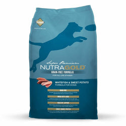 Nutragold Grain Free Whitefish and Sweet Potato Dry Dog Food - Push Pets Singapore