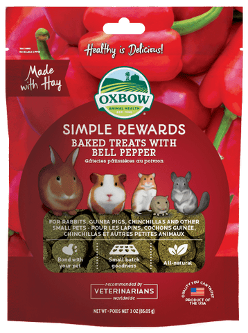 Oxbow Simple Rewards Baked Treats With Bell Pepper 2oz