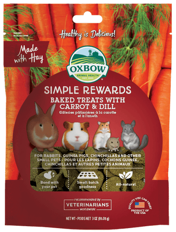 Oxbow Simple Rewards Baked Treats With Carrot And Dill 2oz