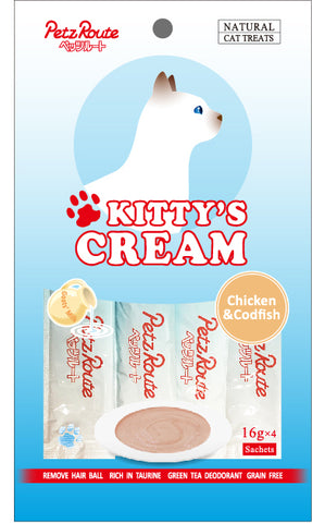 Petz Route Kitty's Cream - Chicken & Codsh