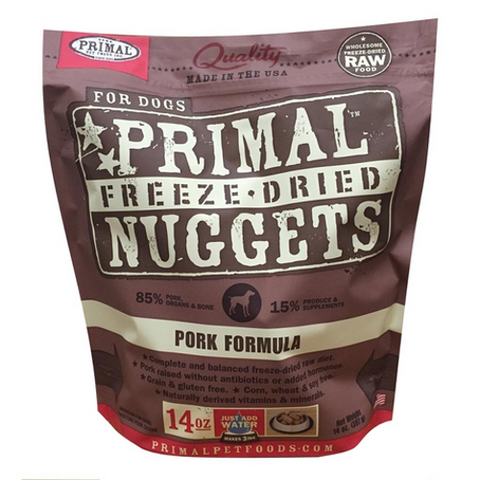 BUY 1 GET 1 FREE Primal Freeze-Dried Pork Nuggets for Dogs - Push Pets Singapore