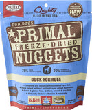 Primal Freeze-Dried Duck Nuggets for Dogs - Push Pets Singapore