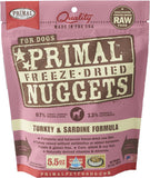 Primal Freeze-Dried Turkey & Sardine Nuggets for Dogs