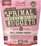 Primal Freeze-Dried Beef & Salmon Nuggets for Cats - Push Pets Singapore