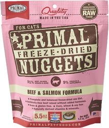 Primal Freeze-Dried Beef & Salmon Nuggets for Cats