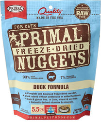 Primal Freeze-Dried Duck Nuggets for Cats