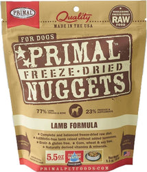 Primal Freeze-Dried Lamb Nuggets for Dogs