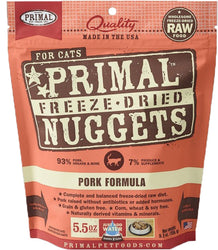 Primal Freeze-Dried Pork Nuggets for Cats