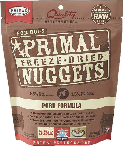 Primal Freeze-Dried Pork Nuggets for Dogs