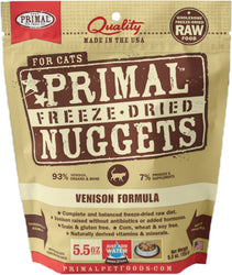 Primal Freeze-Dried Venison Nuggets for Cats