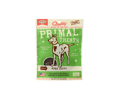 Primal Treats Jerky Pork Chips 85g