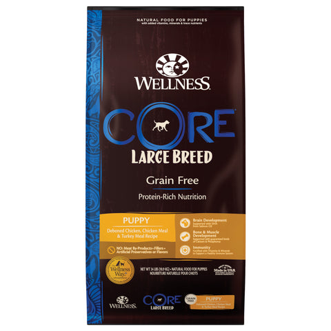 20% OFF + FREE GIFT Wellness CORE Grain Free Large Breed Puppy Dry Dog Food