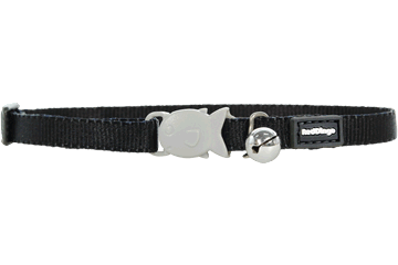 Red Dingo Cat Classic Safety Collars Black