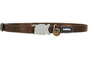 Red Dingo Cat Classic Safety Collars Brown