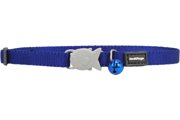 Red Dingo Cat Classic Safety Collars Dark Blue