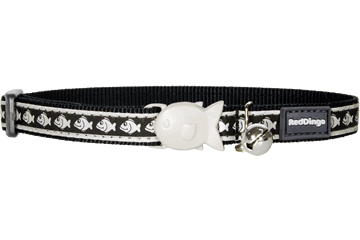 Red Dingo Cat Reflective Collars Black