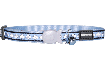 Red Dingo Cat Reflective Collars Light Blue