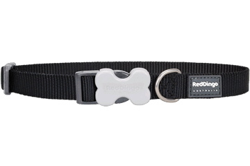 Red Dingo Classic Dog Collar Black
