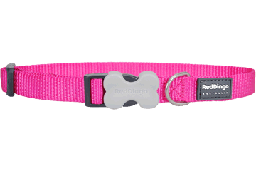 Red Dingo Classic Dog Collar Hot Pink