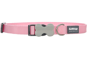 Red Dingo Classic Dog Collar Pink