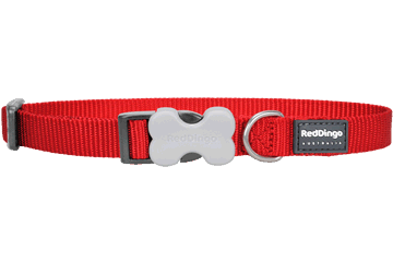 Red Dingo Classic Dog Collar Red
