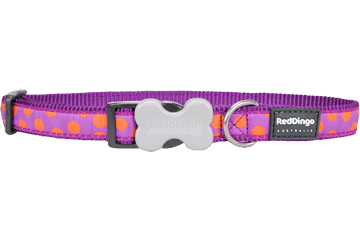 Red Dingo Orange Spots Dog Collars Purple