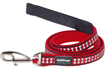 Red Dingo Reflective Lead Red