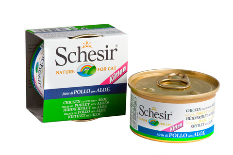 Schesir Kitten Chicken Fillet with Aloe In Jelly Canned Cat Food
