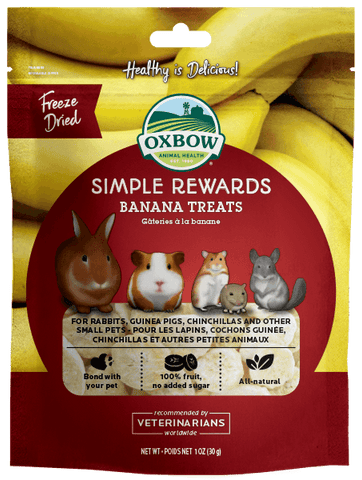 Oxbow Simple Rewards Banana Treat 10oz