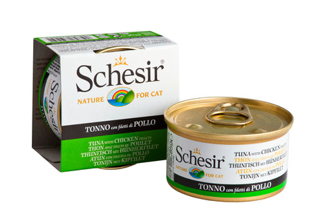 Schesir Tuna with Chicken in Jelly Canned Cat Food - Push Pets Singapore