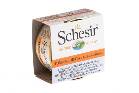 Schesir Tuna with Sea Bream in Natural Gravy Canned Cat Food