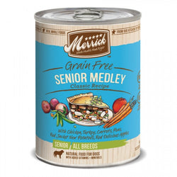 Merrick Classic Grain Free Golden Years Senior Medley Canned Dog Formula - Push Pets Singapore