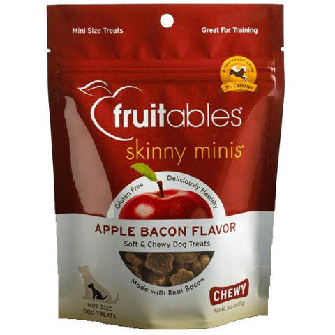 Fruitables Skinny Minis in Apple & Bacon Small Breed Dog Treats - Push Pets Singapore