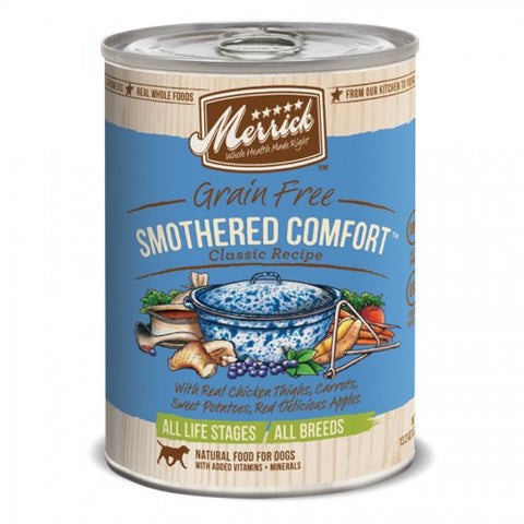 Merrick Grain Free Smothered Comfort Canned Dog Formula - Push Pets Singapore