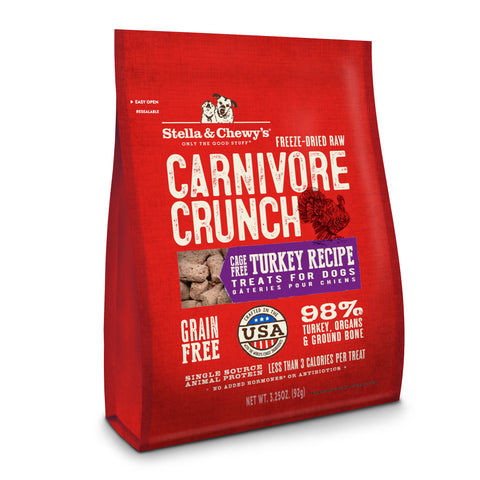 Stella & Chewy's Dog Treat - Carnivore Crunch Turkey Recipe