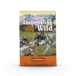 50% OFF + FREE TREAT Taste of the Wild High Prairie Roasted Bison & Venison Grain Free Puppy Dry Dog Food
