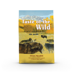 50% OFF + FREE TREAT Taste of the Wild High Prairie Roasted Bison & Venison Grain Free Dry Dog Food