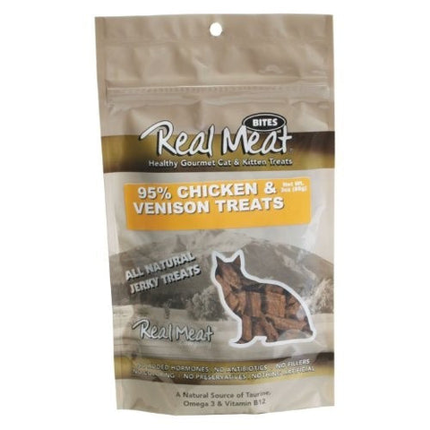 The Real Meat Company Free Range Chicken & Venison Real Meat Cat Treats - Push Pets Singapore